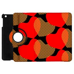 Heart Pattern Apple Ipad Mini Flip 360 Case by Amaryn4rt