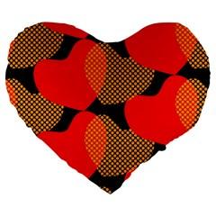 Heart Pattern Large 19  Premium Heart Shape Cushions by Amaryn4rt