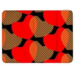 Heart Pattern Samsung Galaxy Tab 7  P1000 Flip Case by Amaryn4rt