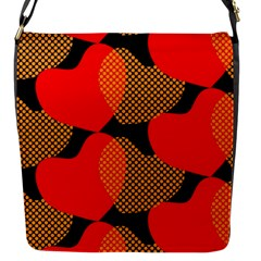 Heart Pattern Flap Messenger Bag (s) by Amaryn4rt