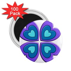 Light Blue Heart Images 2 25  Magnets (100 Pack)  by Amaryn4rt
