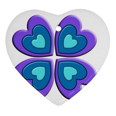 Light Blue Heart Images Heart Ornament (two Sides) by Amaryn4rt
