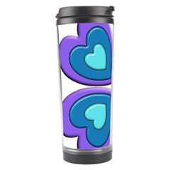 Light Blue Heart Images Travel Tumbler by Amaryn4rt