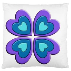Light Blue Heart Images Standard Flano Cushion Case (two Sides) by Amaryn4rt