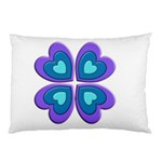 Light Blue Heart Images Pillow Case 26.62 x18.9 Pillow Case