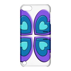 Light Blue Heart Images Apple Ipod Touch 5 Hardshell Case With Stand