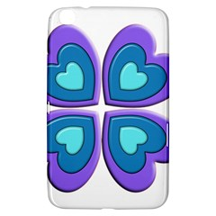 Light Blue Heart Images Samsung Galaxy Tab 3 (8 ) T3100 Hardshell Case  by Amaryn4rt