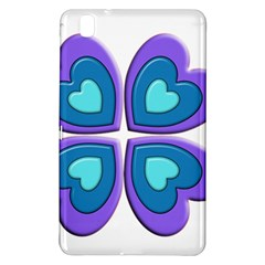 Light Blue Heart Images Samsung Galaxy Tab Pro 8 4 Hardshell Case by Amaryn4rt
