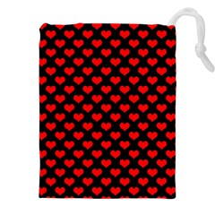 Love Pattern Hearts Background Drawstring Pouches (xxl)