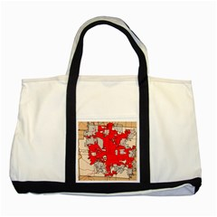 Map Of Franklin County Ohio Highlighting Columbus Two Tone Tote Bag by Amaryn4rt