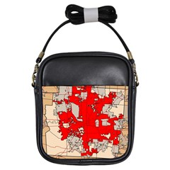 Map Of Franklin County Ohio Highlighting Columbus Girls Sling Bags by Amaryn4rt