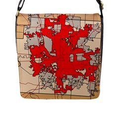 Map Of Franklin County Ohio Highlighting Columbus Flap Messenger Bag (l)