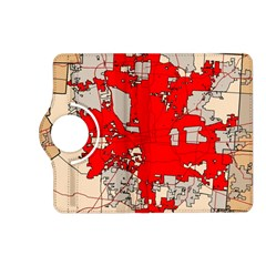 Map Of Franklin County Ohio Highlighting Columbus Kindle Fire Hd (2013) Flip 360 Case by Amaryn4rt