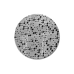 Metal Background Round Holes Magnet 3  (round) by Amaryn4rt