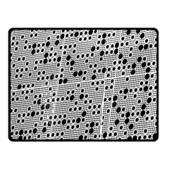 Metal Background Round Holes Fleece Blanket (Small) by Amaryn4rt