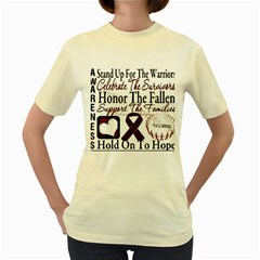 Sickle Cell Is Me Women s Yellow T Shirt by shawnstestimony