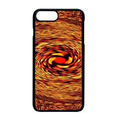 Orange Seamless Psychedelic Pattern Apple iPhone 7 Plus Seamless Case (Black)