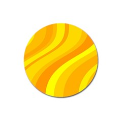 Orange Yellow Background Magnet 3  (round)