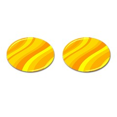 Orange Yellow Background Cufflinks (oval) by Amaryn4rt