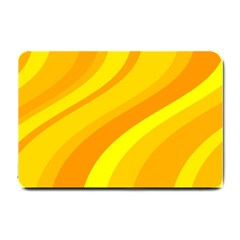 Orange Yellow Background Small Doormat  by Amaryn4rt