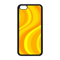 Orange Yellow Background Apple Iphone 5c Seamless Case (black) by Amaryn4rt