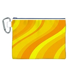 Orange Yellow Background Canvas Cosmetic Bag (l) by Amaryn4rt