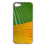 Pattern Colorful Palm Leaves Apple iPhone 5 Case (Silver) Front