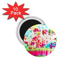 Pattern Decorated Schoolbus Tie Dye 1.75  Magnets (10 pack)  by Amaryn4rt