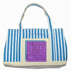 Peripherals Striped Blue Tote Bag by Amaryn4rt