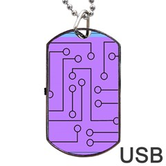 Peripherals Dog Tag Usb Flash (one Side) by Amaryn4rt