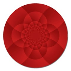 Psychedelic Art Red  Hi Tech Magnet 5  (round) by Amaryn4rt