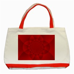 Psychedelic Art Red  Hi Tech Classic Tote Bag (red) by Amaryn4rt