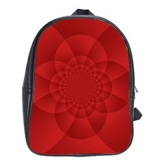 Psychedelic Art Red  Hi Tech School Bags(large)