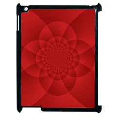 Psychedelic Art Red  Hi Tech Apple Ipad 2 Case (black) by Amaryn4rt