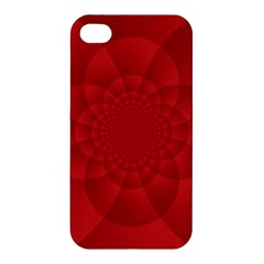 Psychedelic Art Red  Hi Tech Apple Iphone 4/4s Hardshell Case by Amaryn4rt