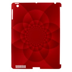 Psychedelic Art Red  Hi Tech Apple Ipad 3/4 Hardshell Case (compatible With Smart Cover)