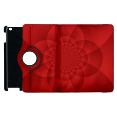 Psychedelic Art Red  Hi Tech Apple Ipad 3/4 Flip 360 Case by Amaryn4rt