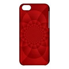 Psychedelic Art Red  Hi Tech Apple Iphone 5c Hardshell Case by Amaryn4rt