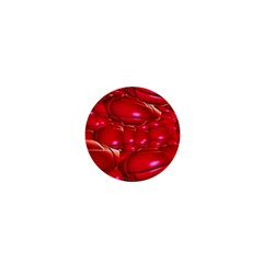 Red Abstract Cherry Balls Pattern 1  Mini Buttons by Amaryn4rt