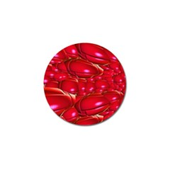 Red Abstract Cherry Balls Pattern Golf Ball Marker (10 Pack) by Amaryn4rt