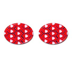 Red Bee Hive Cufflinks (oval) by Amaryn4rt