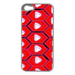 Red Bee Hive Apple Iphone 5 Case (silver)