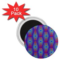Red Blue Bee Hive 1 75  Magnets (10 Pack)