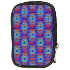 Red Blue Bee Hive Compact Camera Cases by Amaryn4rt