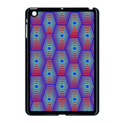 Red Blue Bee Hive Apple Ipad Mini Case (black) by Amaryn4rt