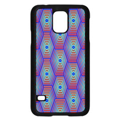 Red Blue Bee Hive Samsung Galaxy S5 Case (black) by Amaryn4rt