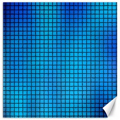 Seamless Blue Tiles Pattern Canvas 16  X 16   by Amaryn4rt