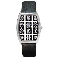 Snowflakes Exemplifies Emergence In A Physical System Barrel Style Metal Watch by Amaryn4rt