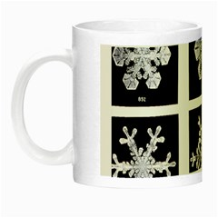 Snowflakes Exemplifies Emergence In A Physical System Night Luminous Mugs by Amaryn4rt