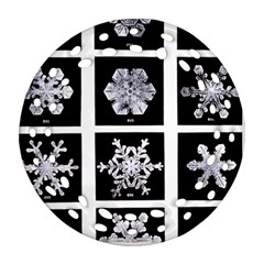Snowflakes Exemplifies Emergence In A Physical System Ornament (round Filigree) by Amaryn4rt